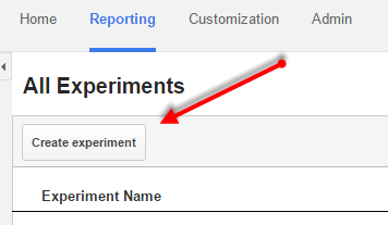 Once you've opened Google analytics, its important to open the content experiments in Behavior section of Google Analytics