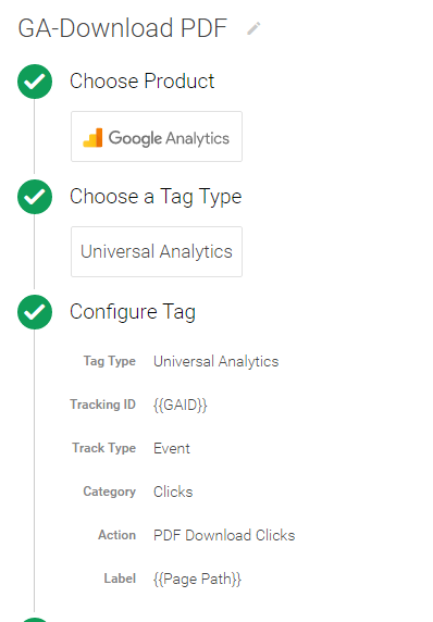 Track PDF downloads with Google Tag Manager Universal