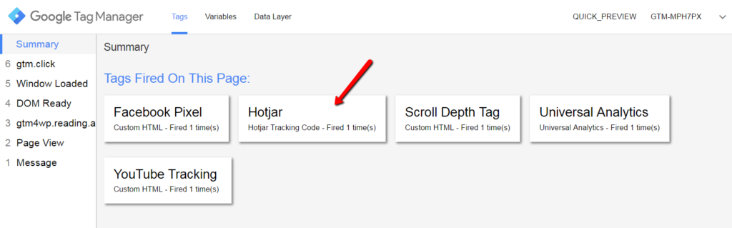 Hotjar is firing on page view in the debug console of Google Tag Manager