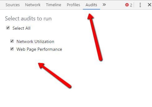 Chrome Developer Tools for Audit