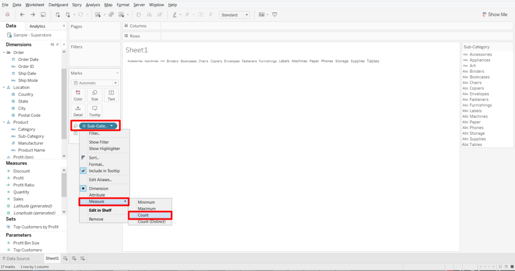 how to put border in tableau