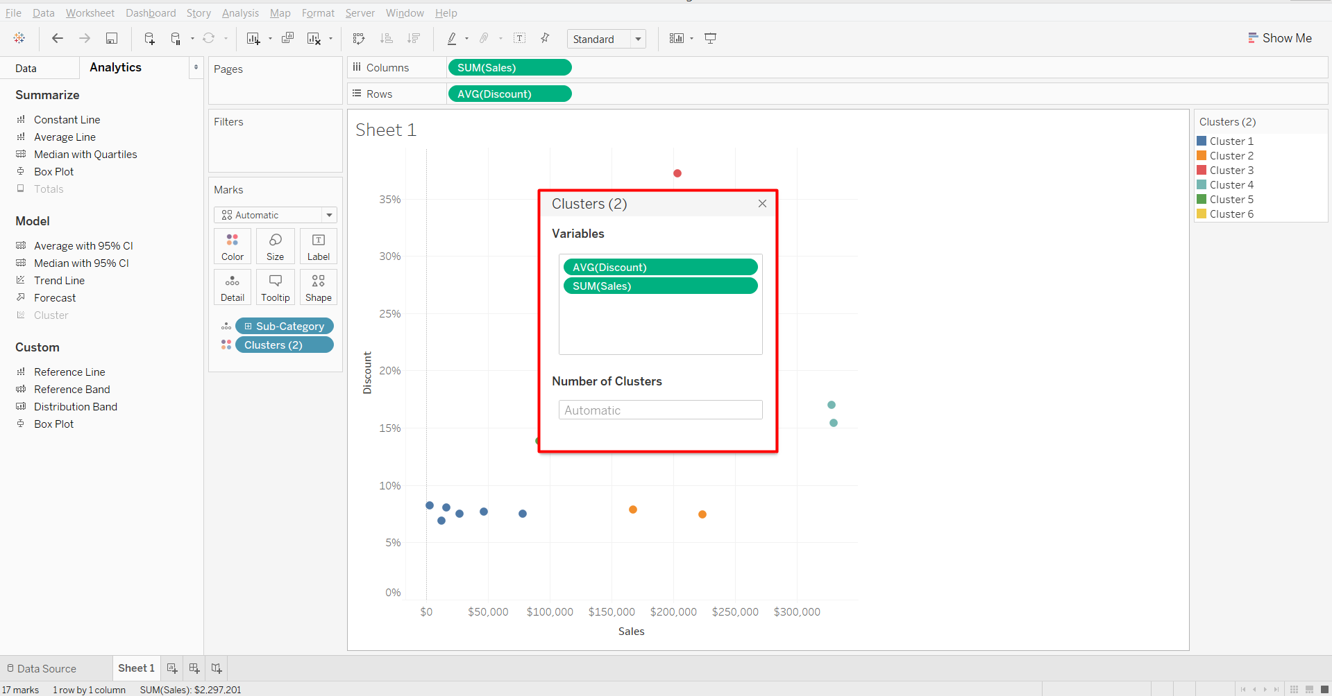 How to Create Clusters in Tableau - AbsentData