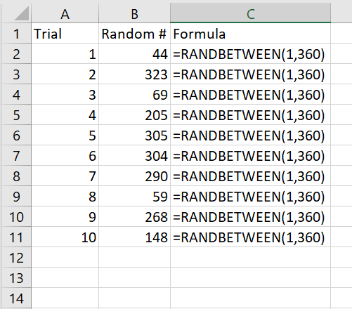 You can set the upper and lower numbers for your random number generator in excel