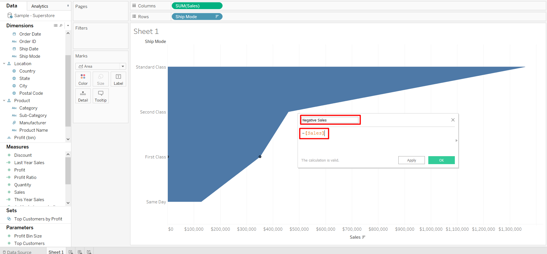 a calculated field will be the second side of your funnel chart in Tableau