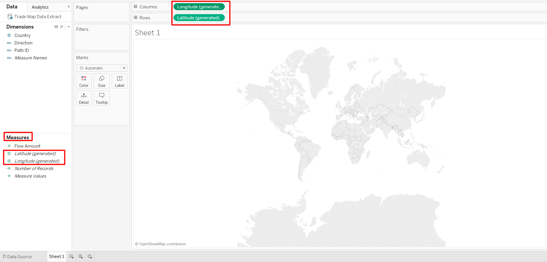 Add Countries using in your Tableau Vector Map to show paths from country to country