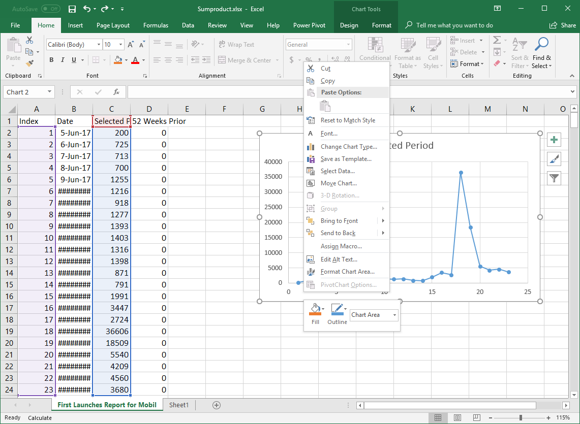 Right click and add new data to change labels on the graph