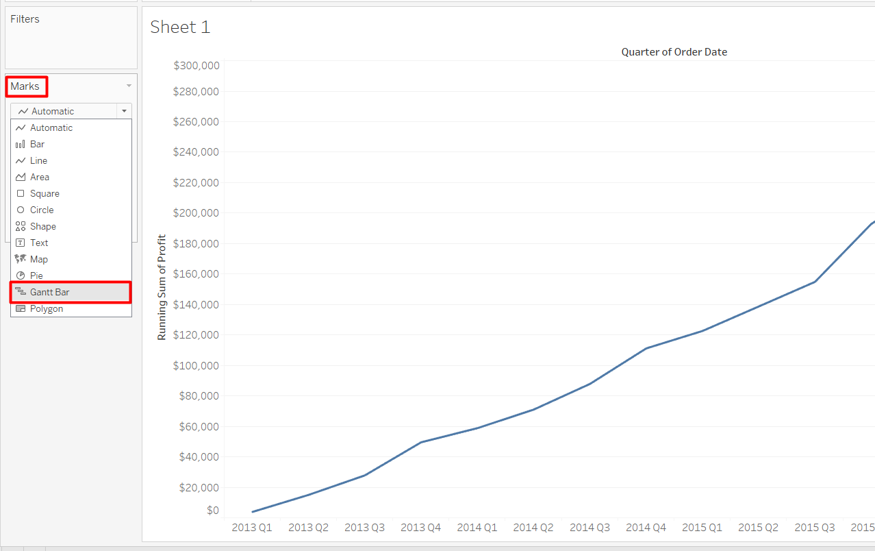 How to Make a Tableau Waterfall Chart - AbsentData