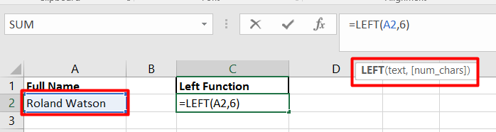 Use the left function to extract a number of characters from a value.