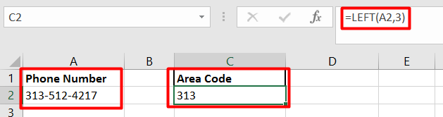 Extracting the error code out of a text string can be accomplished with the LEFT function.