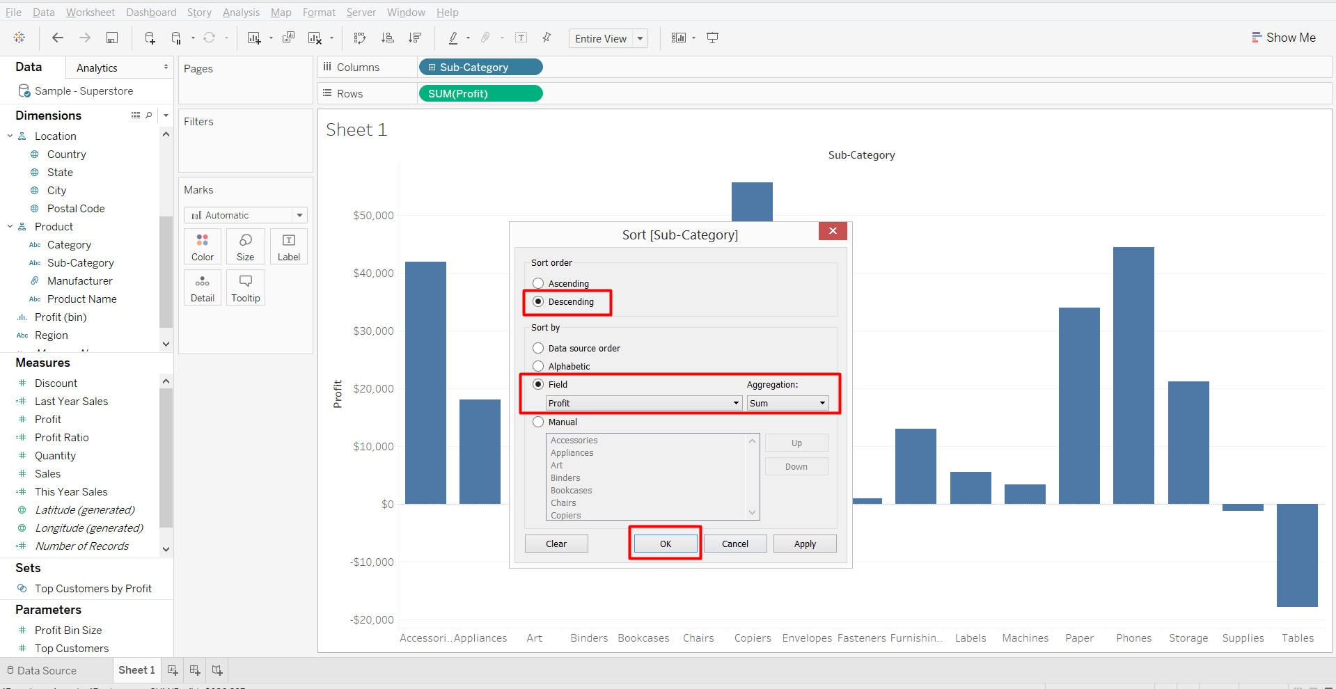 Pareto Chart In Tableau Absentdata