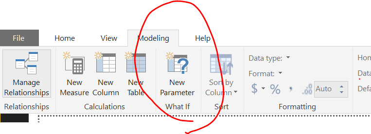 The parameter is located in the modeling tab of the top ribbon
