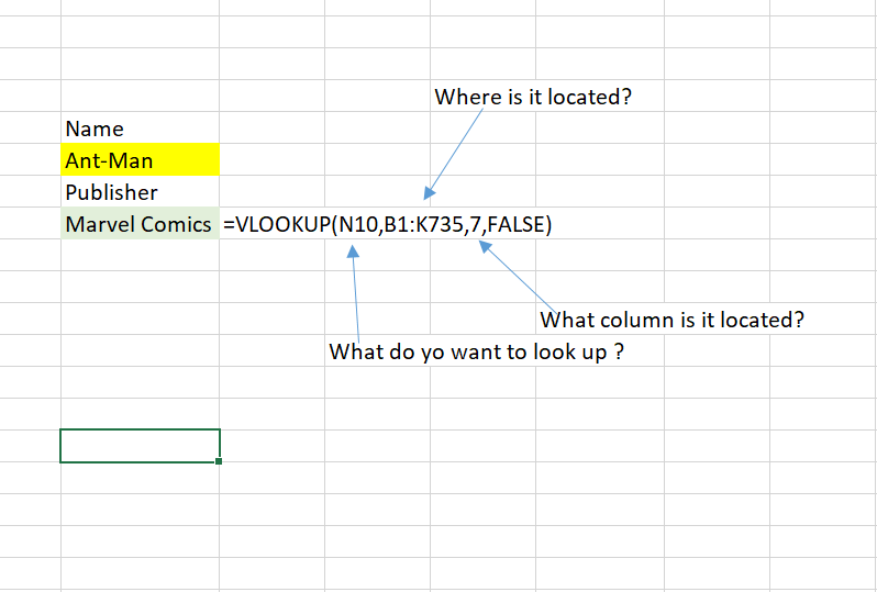 Vlookup components