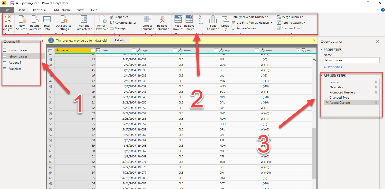 query editor in Power BI is good for data cleaning