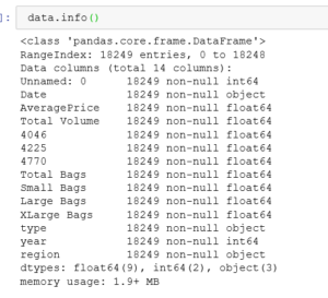 get summary data from the info function in pandas dataframe